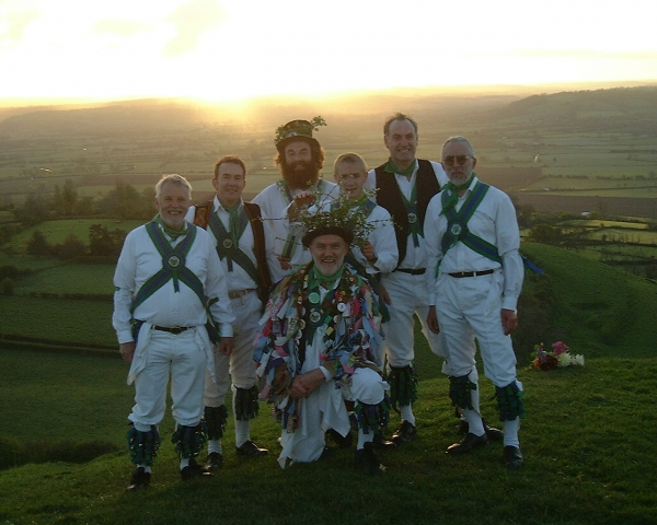 On Glastonbury Tor at dawn, 1st May 2002